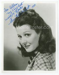 9a046 ANN RUTHERFORD signed 8x10 REPRO still '87 head & shoulders portrait of the pretty actress!