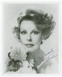 9a047 ARLENE DAHL signed 8x10 REPRO still '80s pretty head & shoulders close up late in her career!