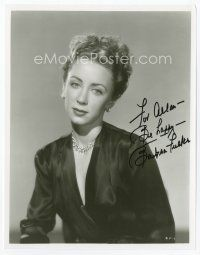 9a049 BARBRA FULLER signed 8x10 REPRO still '80s waist-high close up of the pretty actress!