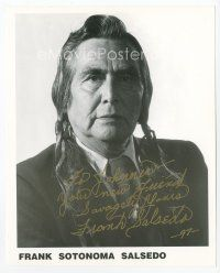 9a057 FRANK SOTONOMA SALSEDO signed 8x10 REPRO still '97 portrait of the Native American actor!