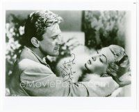 9a074 KIRK DOUGLAS signed 8x10 REPRO still '80s with Lana Turner from The Bad and the Beautiful!