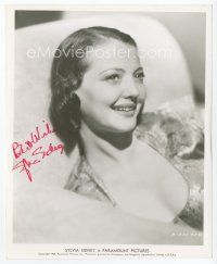 9a089 SYLVIA SIDNEY signed 8x10 REPRO still '80s great close up smiling portrait of the pretty star!