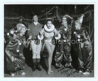 9a096 YVONNE DE CARLO signed 8x10 REPRO still '80s wearing sexy clown costume at circus!