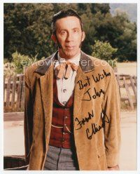 9a056 FRANK COLLISON signed color 8x10 REPRO still '97 in costume from Dr. Quinn: Medicine Woman!
