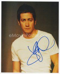 9a064 JAKE GYLLENHAAL signed color 8x10 REPRO still '03 waist-high portrait of the actor!