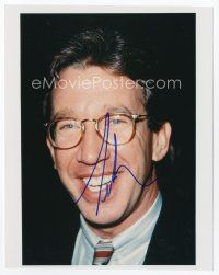 9a091 TIM ALLEN signed color 8x10 REPRO still '00s head & shoulders smiling portrait with glasses!