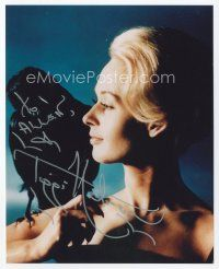 9a092 TIPPI HEDREN signed color 8x10 REPRO still '90s best close portrait from The Birds!