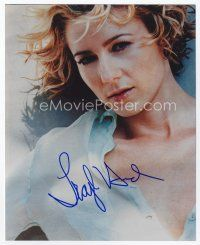 9a094 TRAYLOR HOWARD signed color 8x10 REPRO still '00s great close up of the sexy actress!