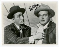 9a051 BOB HOPE signed 8x10 REPRO still '90 great close up of the comedian with Bing Crosby!