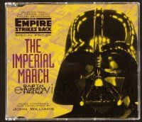 9a121 EMPIRE STRIKES BACK CD '97 original score by Williams, cool die-cut disc of Vader's head!