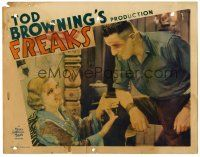 9b002 FREAKS LC '32 Tod Browning classic, close up of strongman Henry Victor & Olga Baclanova!