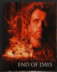 9c029 END OF DAYS 10 color 11x14 stills '99 grizzled Arnold Schwarzenegger, Robin Tunney, Byrne!