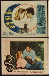 9c069 APRIL LOVE 8 LCs '57 romantic images of Pat Boone & sexy Shirley Jones!