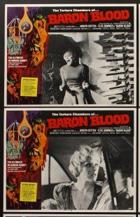 9c076 BARON BLOOD 8 LCs '72 Mario Bava, the ultimate in human agony, torture beyond belief!