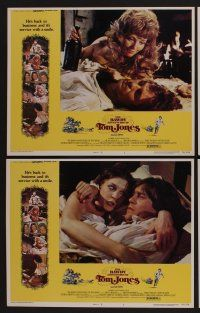 9c079 BAWDY ADVENTURES OF TOM JONES 8 LCs '76 Nicky Henson, sexy Joan Collins, service w/a smile!