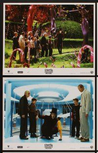 9c025 CHARLIE & THE CHOCOLATE FACTORY 10 LCs '05 Tim Burton directed, Johnny Depp as Willy Wonka!