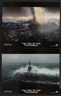9c026 DAY AFTER TOMORROW 10 LCs '04 Dennis Quaid, wild images of huge natural disasters!