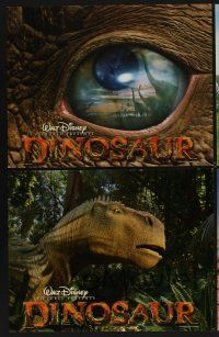 9c042 DINOSAUR 9 LCs '00 Disney, great images of prehistoric world!