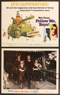 9c044 FOLLOW ME BOYS 9 LCs R76 Fred MacMurray leads Boy Scouts, young Kurt Russell, Walt Disney!