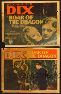 9c002 LOT OF 5 'FOUND IN A BARN' ROAR OF THE DRAGON LOBBY CARDS 5 LCs '32 Richard Dix, Gwili Andre!