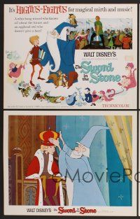 9c051 SWORD IN THE STONE 9 LCs '64 Disney's cartoon story of young King Arthur & Merlin the Wizard!