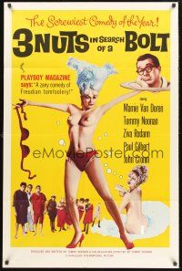 9e023 3 NUTS IN SEARCH OF A BOLT 1sh '64 sexy Mamie Van Doren in tassles & little else!