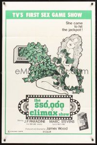 9e017 $50,000 CLIMAX SHOW 1sh '75 TV's 1st sex gameshow, she came to hit the jackpot!