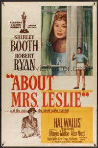 9e031 ABOUT MRS. LESLIE 1sh '54 Shirley Booth, Robert Ryan, the man she never quite married!