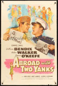 9e033 ABROAD WITH 2 YANKS 1sh '44 Marines William Bendix & Dennis O'Keefe lust after Helen Walker!