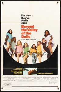 9e010 BEYOND THE VALLEY OF THE DOLLS 1sh '70 Russ Meyer's girls who are old at twenty!