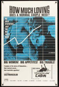 9e012 COMMON LAW CABIN 1sh '67 Russ Meyer, How much loving does a normal couple need?