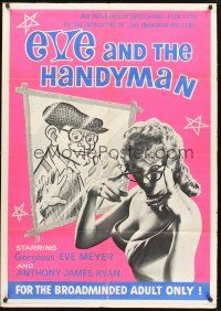 9e008 EVE & THE HANDYMAN 1sh '61 Russ Meyer directs gorgeous wife Eve Meyer!