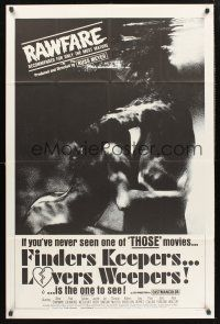 9e013 FINDERS KEEPERS, LOVERS WEEPERS b&w style 1sh '68 Russ Meyer, recommended for most mature!