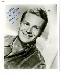 9g103 RICHARD WEBB signed 8x10 REPRO still '83 great smiling portrait, he added Captain Midnight!