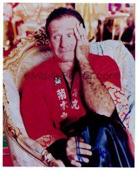 9g106 ROBIN WILLIAMS signed color 8x10 REPRO still '00s wacky close up in Japanese outfit!