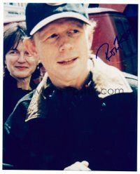 9g107 RON HOWARD signed color 8x10 REPRO still '00s close up of the director wearing baseball cap!