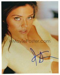 9g110 SUSAN WARD signed color 8x10 REPRO still '01 super close portrait of the sexy actress!