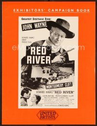 9g354 RED RIVER English pressbook R50s John Wayne, Montgomery Clift, Howard Hawks