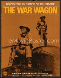 9g385 WAR WAGON English pressbook '67 cowboys John Wayne & Kirk Douglas, different image!