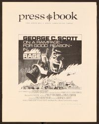 9g349 RAGE pressbook '72 George C. Scott is on a rampage for good reason!