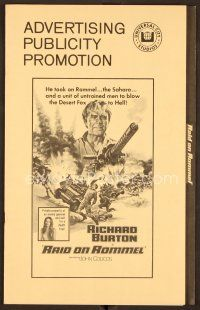 9g351 RAID ON ROMMEL pressbook '71 Richard Burton, Wolfgang Preiss as The Desert Fox!
