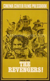 9g356 REVENGERS pressbook '72 cowboys William Holden, Ernest Borgnine & Woody Strode!