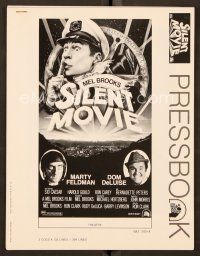 9g360 SILENT MOVIE pressbook '76 Marty Feldman, Dom DeLuise, art of Mel Brooks by John Alvin!
