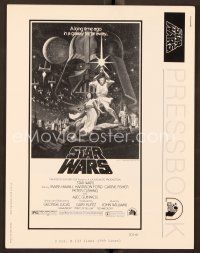 9g371 STAR WARS pressbook '77 George Lucas classic sci-fi epic, great art by Tom Jung!