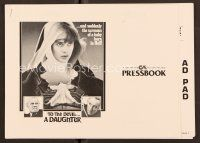 9g379 TO THE DEVIL A DAUGHTER pressbook '76 Richard Widmark, Christopher Lee, nun Nastassja Kinski