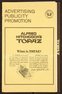 9g380 TOPAZ pressbook '69 Alfred Hitchcock, John Forsythe, explosive spy scandal of this century!