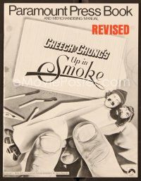 9g383 UP IN SMOKE revised pressbook '78 Cheech & Chong marijuana drug classic!