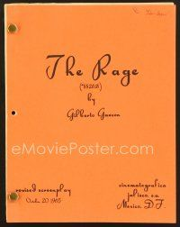 9g256 RAGE revised script October 20, 1965, screenplay by Gilberto Gazcon!