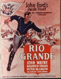 9g201 RIO GRANDE Danish program '52 John Wayne, Maureen O'Hara, John Ford, different images!