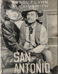 9g203 SAN ANTONIO Danish program '50 different images of sexy Alexis Smith & Errol Flynn!